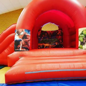 Marvel Superheroes Bouncy Castle Hire Cheddar