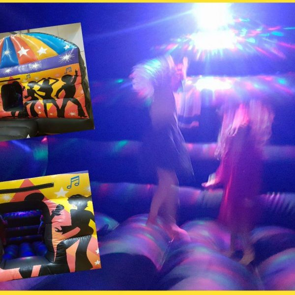 Disco Bouncy Castle Hire with Disco Lights