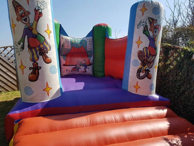 Ultimate garden bouncy castle