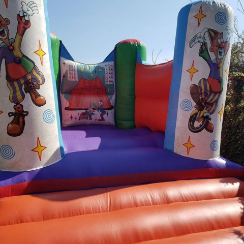 Bouncy Castle with clowns