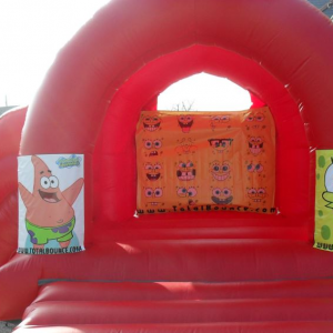 Spongebob Squarepants Bouncy Castle Hire with Side Slide