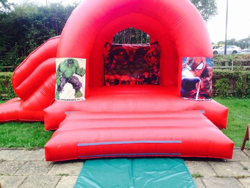 Bouncy castle hire superhero