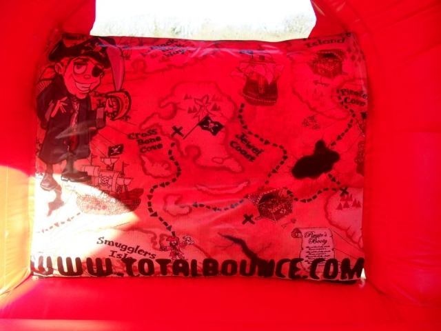 The Pirates Treasure Map on the Bouncy Castle