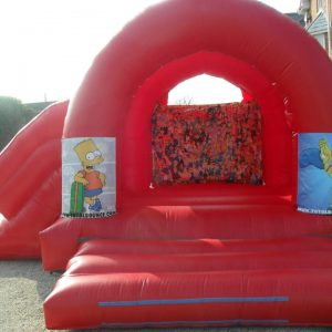 Simpsons Bouncy Castle with slide