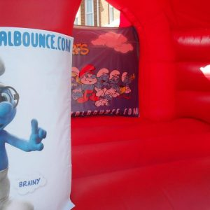 Smurfs Bouncy Castle Hire Burnham-on-Sea and Surrounding