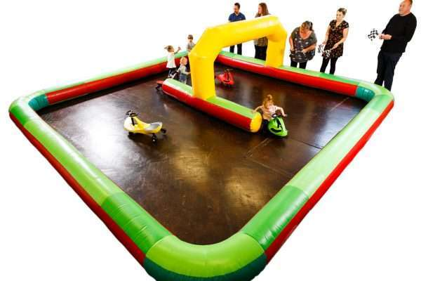 Inflatable Race Track and cars Hire Bridgwater