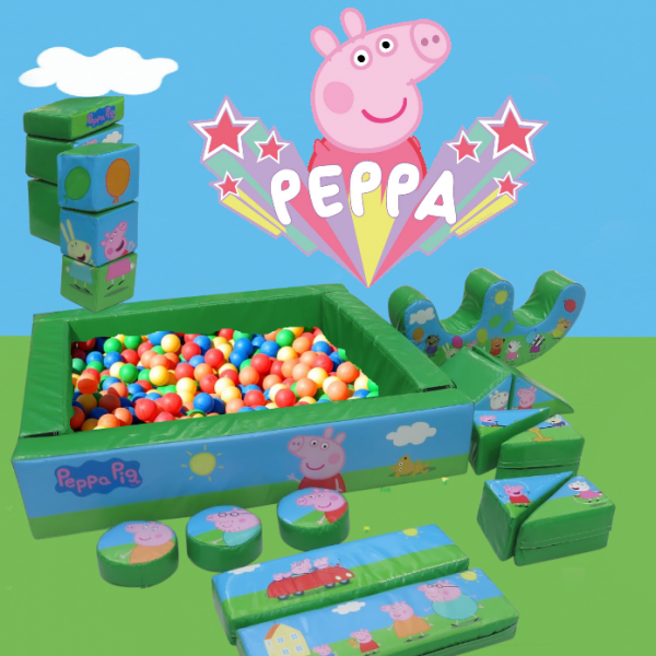 licensed peppa pig soft play hire with ball pit
